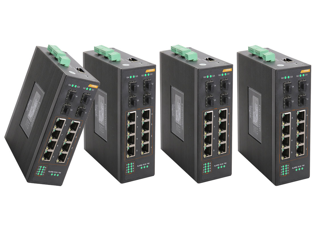 8 * RJ45 + 4 * SFP industrial POE Switch Support 802.1x authentication 8 port managed poe switch